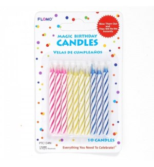 PTC134N BIRTHDAY CANDLE, STRIPED
