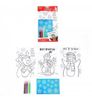 CH-MAS #XO3030 COLORING SET W/MARKERS