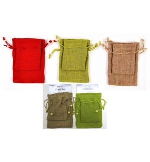 CH-MAS #FB847 2PC JUTE BAG W/DRAWSTRING