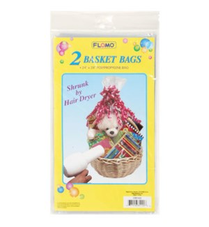 BASKET BAGS #CB5102 SHRINK WRAP/CLEA