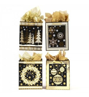 N.YR #PM918E GIFT BAGS, GOLDEN HOT STAMP