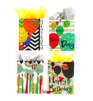 GIFT BAG #BB660L BIRTHDAY/ASST