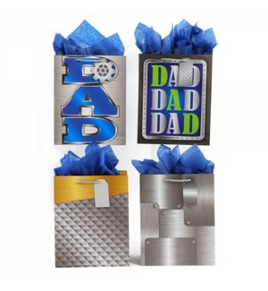 DAD DAY #FA816L GIFT BAGS, ASST