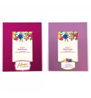 MOM DAY #MO80 PAPER PHOTO FRAME, PINK