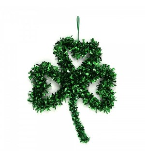 ST. PAT #SP421 TINSEL SHAMROCK