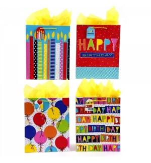 GIFT BAG #BB671SG BIRTHDAY, ASST