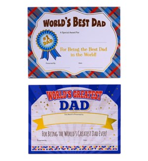 DAD DAY #FA831 AWARD PLAQUE W/HOT STAMP