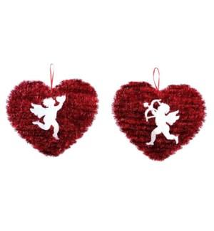 V #AV965 TINSEL HEART W/HOLOGRAM CUPID