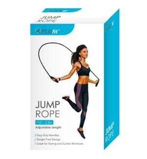 FLOFIT #FF103 JUMP ROPE, ADJUTABLE LENGH