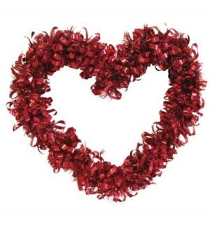 V #AV577 HEART TINSEL DECO