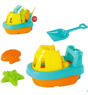 BIG TOY K #25993 BOAT SAND TOY IN NET BAG