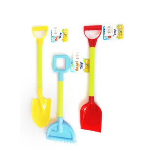 TOY K #27350 SHOVEL W.HANDTAG SOLID COLO
