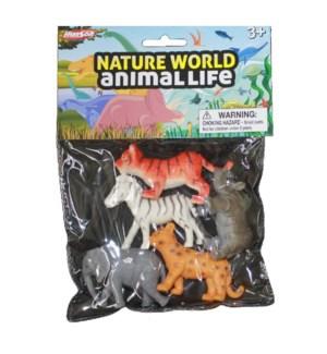 TOY K #91412 BABY WILD ANIMALS IN BAG