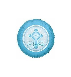 BALLOON #17693 BAPTISM BLUE