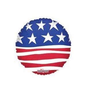 BALLOON #87007 AMERICAN FLAG/ROUND