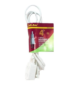 EXTENSION CORD #33601 WHITE