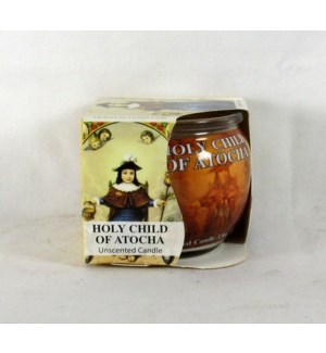 GLOBE CANDLE #60241 HOLY CHILD OF ATOCHA, JAR