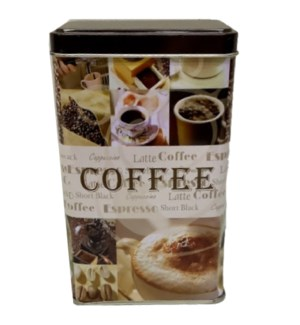 SQUARE COFFEE TIN #74176