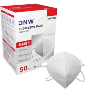 FACE MASK KN95 DISPOSBAL RED BOX