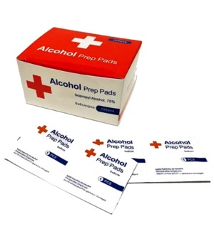 ALCOHOL PREP PADS 75% WIPE