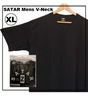 V NECK SHIRTS - BLACK