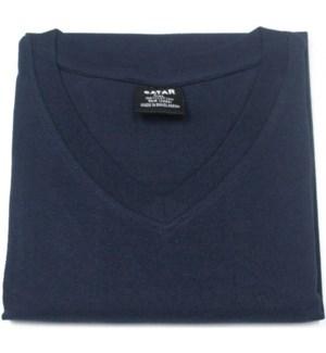 V NECK SHIRTS - NAVY BLUE