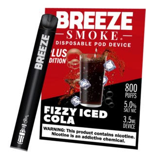 BREEZE FIZZY ICED COLA DISPOSABLE POD DEVICE