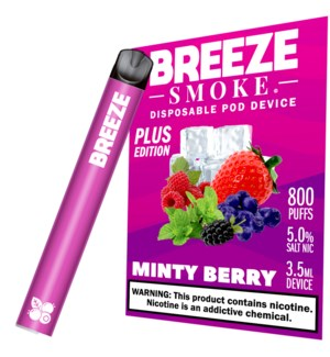 BREEZE MINTY BERRY DISPOSABLE POD DEVICE