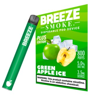 BREEZE GREEN APPLE ICE DISPOSABLE POD DEVICE