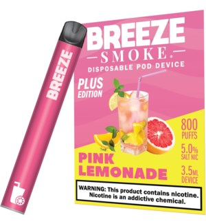 BREEZE PINK LEMONADE DISPOSABLE POD DEVICE