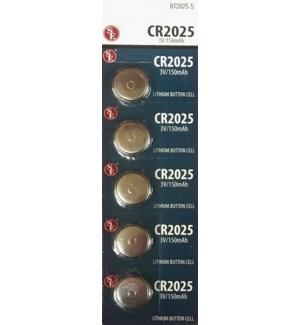 BT2025-5/CR2025 LITHIUM BATTERIES