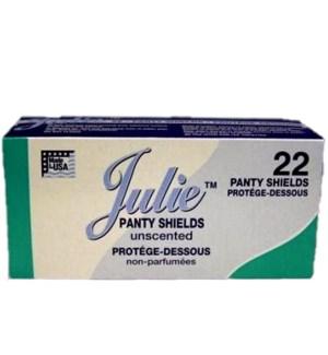 JULIE #10027 PANTY LINER SHIELDS