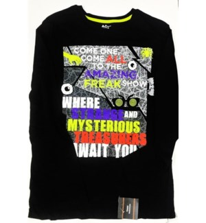 HW #27516 KIDS T SHIRT BLACK