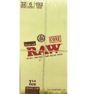 RAW #20196 HEMP CONE ROLLING PAPER