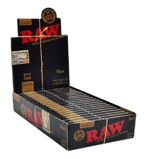 RAW PAPER #25031 BLACK CLASSIC