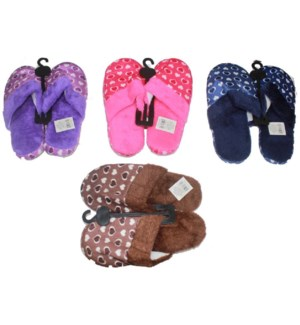 WOMEN WINTER SLIPPERS #SL422 HEART PRINT