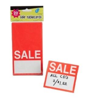 REG #G02580 SALE TABLECARDS