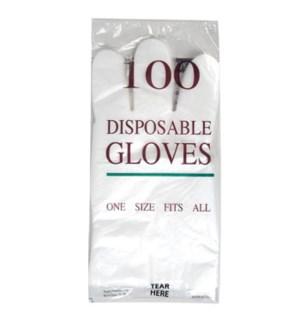 REG #G14064NT CLEAR DISPOSABLE GLOVE