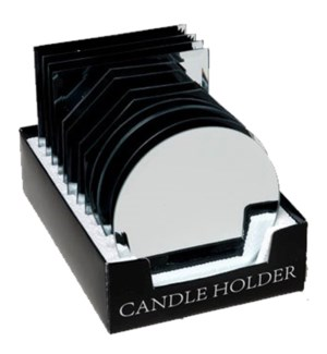 REG #G15693T MIRROR CANDLE PLATE