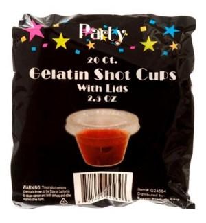 REG #G24584N GELATIN SHOT GLASSES W/LIDS