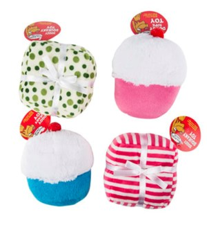 REG PET #68057P DOG TOY, CUPCAKE PLUSH W