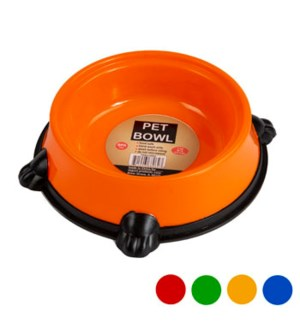 REG #68062 PET BOWL, NON SKID, ASST