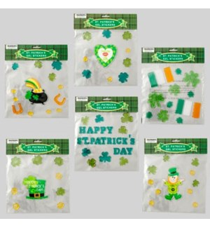 ST.PAT #G86071N WINDOW GEL STICKERS
