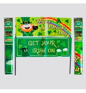 ST.PAT #G86093 YARD SIGN/BANNER
