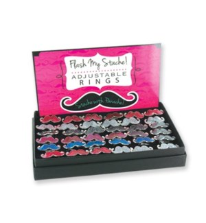 D.M. #MUSTACHE RINGS DISPLAY