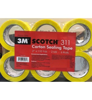 SCOTCH #00042 VINYL PACKING TAPE