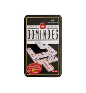 DOMINOES DOUBLE 6 COLOR DOT