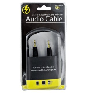 AUDIO CABLE #OS392 STEREO MALE TO MALE