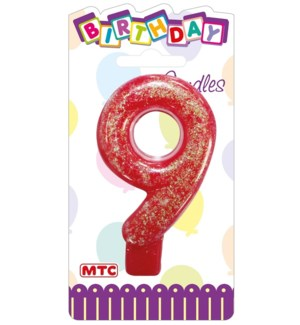 MTC #PF-2334 CANDLE #9 GLITTERED