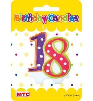 MTC #PF-2449 NUMERIC CANDLE
